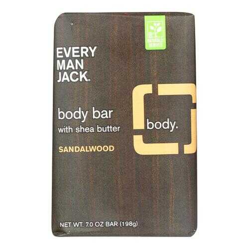 Every Man Jack Body Bar Sandalwood - Case of 1 - 7 oz.