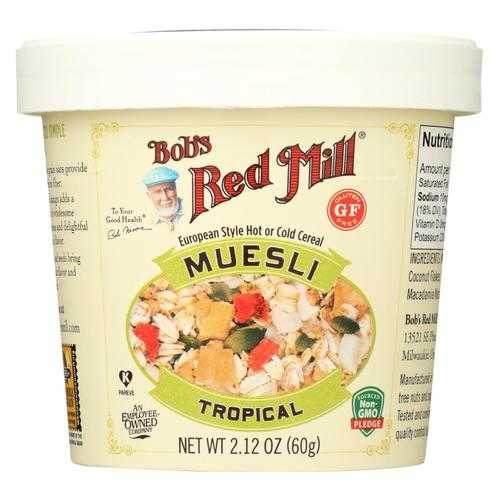 Bob's Red Mill Muesli Cup - Tropical - Case of 12 - 2.12 oz.