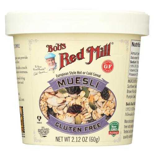 Bob's Red Mill Muesli Cup - Gluten Free - Case of 12 - 2.12 oz.