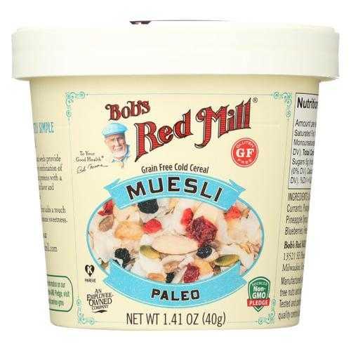 Bob's Red Mill Muesli Cup - Paleo - Case of 12 - 1.41 oz.