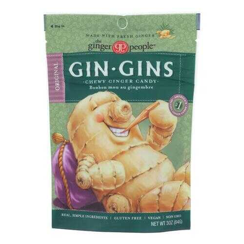Ginger People - Gin Gins Chewy Ginger Candy - Original - Case of 12 - 3 oz.