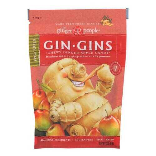 Ginger People Chewy Ginger Candy - Spicy Apple - Case of 12 - 3 oz.