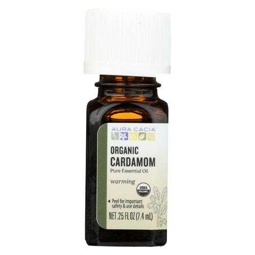 Aura Cacia - Essential Oil - Cardamom - Case of 1 - .25 fl oz.