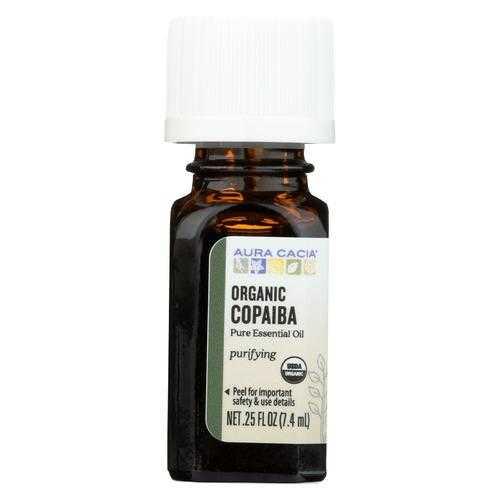 Aura Cacia Essential Oil - Copaiba - Case of 1 - .25 fl oz.