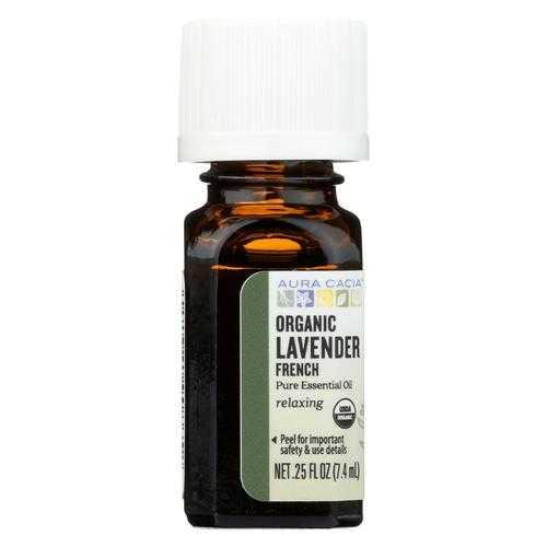 Aura Cacia Essential Oil - French Lavender - Case of 1 - .25 fl oz.