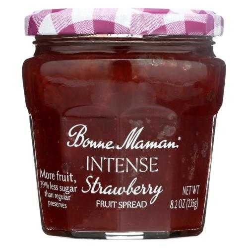 Bonne Maman Fruit Spread - Strawberry Fruit Spread - Case of 6 - 8.2 oz.