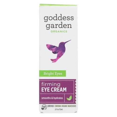 Goddess Garden Bright Eyes Firming Eye Cream - Case of 4 - .5 fl oz.