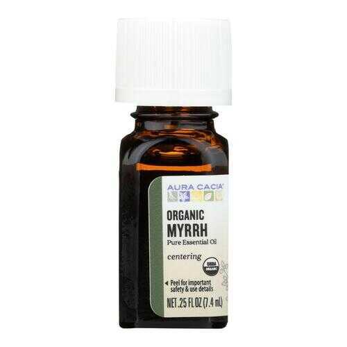 Aura Cacia Essential Oil - Myrrh - Case of 1 - .25 fl oz.
