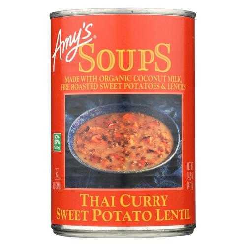 Amy'S Soup Thai Curry Sweet Potato Lentil - Case Of 12 - 14.5 Oz