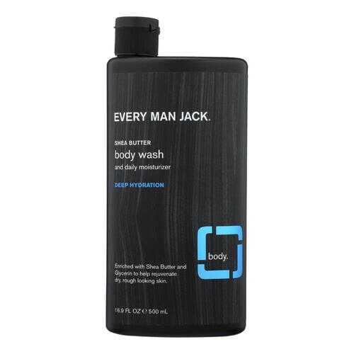 Every Man Jack Body Wash Shea Butter Body Wash | Deep Hydration - Case of 16.9 - 16.9 fl oz.