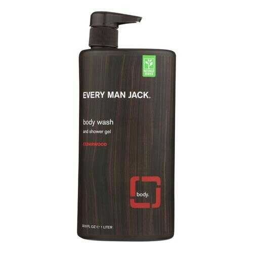 Every Man Jack Body Wash Cedarwood Body Wash - Case of 33.8 - 33.8 fl oz.