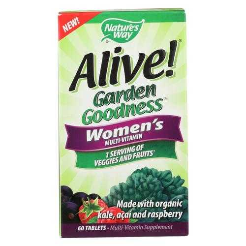 Nature's Way - Alive! Garden Goodness Women's Multi-Vitamin - 60 Tablets
