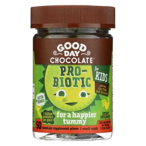 Good Day Chocolate - Probiotic Supplement for Kids - 50 count