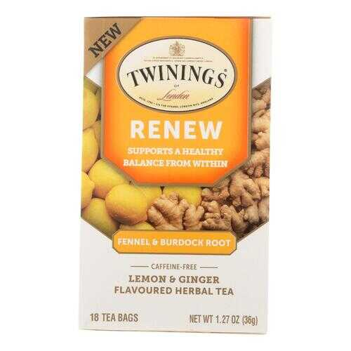 Twinings Tea - Tea Renew Fennel & Burdok - Case of 6 - 18 CT
