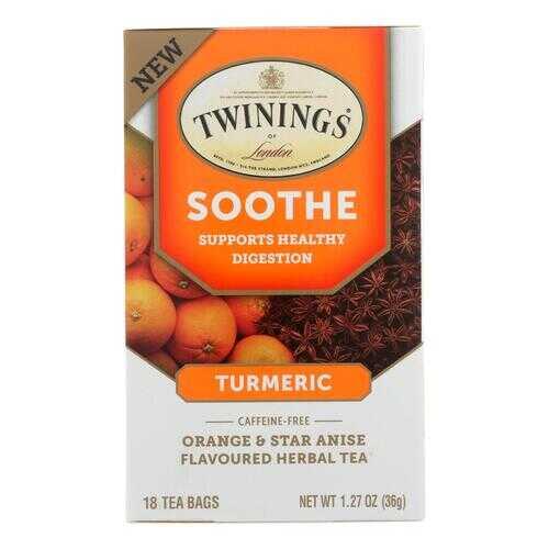 Twinings Tea - Tea Soothe Turmeric - Case of 6 - 18 CT