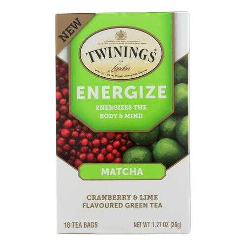 Twinings Tea - Tea Energize Matcha - Case of 6 - 18 CT