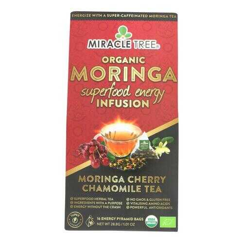 Miracle Tree - Tea.og2 Moringa Cherry Cham - Case of 5 - 16 CT
