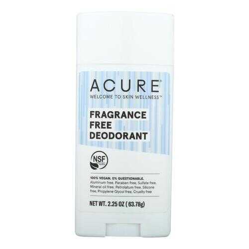 Acure - Deodorant Fragrance Free - 2.25 oz