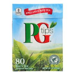 PG Tips Black Tea - Pyramid - Case of 12 - 80 Bags
