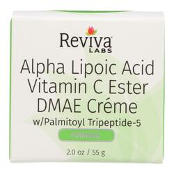 Reviva Labs - Alpha Lipoic Acid Vitamin C Ester and DMAE Cream - 2 oz