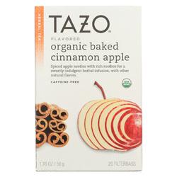 Tazo Tea Organic Tea - Hot Apple Red - Case of 6 - 20 BAG