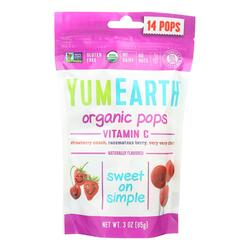 Yummy Earth Organic Vitamin C Pops - 3 oz - Case of 6