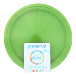 Preserve Large Reusable Plates - Apple Green - Case of 12 - 8 Pack - 10.5 in