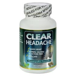 Clear Products Clear Headache - 60 Capsules