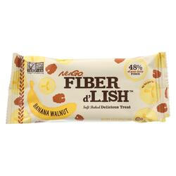NuGo Nutrition Bar - Fiber dLish - Banana Walnut - 1.6 oz Bars - Case of 16