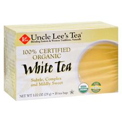 Uncle Lee's Tea 100% Certified Organic White Tea - Case of 6 - 18 Bag