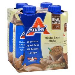 Atkins Advantage RTD Shake Mocha Latte - 11 fl oz Each / Pack of 4
