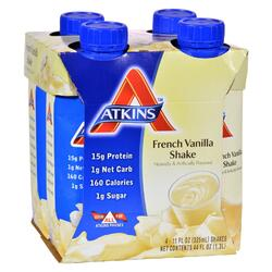 Atkins Advantage RTD Shake French Vanilla - 11 fl oz Each / Pack of 4