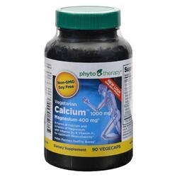 Phyto-Therapy Vegetarian Calcium with Magnesium - 90 Vegetarian Capsules