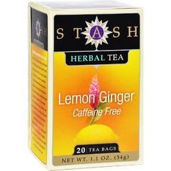 Stash Tea - Herbal - Lemon Ginger - 20 Bags - Case of 6