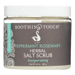 Soothing Touch Salt Scrub - Peppermint/Rosemary - 20 oz