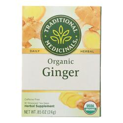 Traditional Medicinals Organic Ginger Herbal Tea - 16 Tea Bags - Case of 6