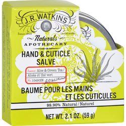 J.R. Watkins Hand and Cuticle Salve Aloe and Green Tea - 2.1 oz