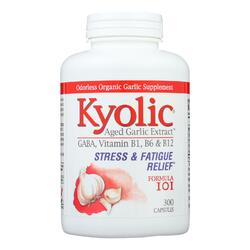 Kyolic - Aged Garlic Extract Stress and Fatigue Relief Formula 101 - 300 Capsules