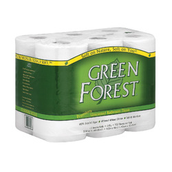 Green Forest Bathroom Tissue - Double Roll 2 Ply - Case of 4 - 12