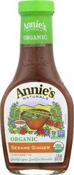 Annie's Naturals Vinaigrette Organic Sesame Ginger - Case of 6 - 8 fl oz.