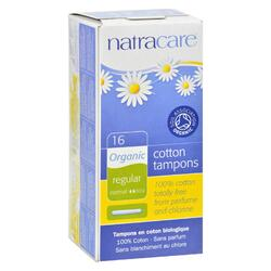 Natracare 100% Organic Cotton Tampons Regular w/ applicator - 16 Tampons