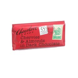 Chocolove Xoxox - Premium Chocolate Bar - Dark Chocolate - Cherries and Almonds - Mini - 1.3 oz Bars - Case of 12