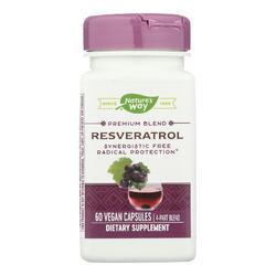 Nature's Way - Resveratrol - 60 Vegetarian Capsules