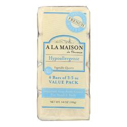 A La Maison - Bar Soap - Unscented Value Pack - 3.5 oz Each / Pack of 4