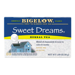Bigelow Tea Sweet Dreams Herb Tea - Case of 6 - 20 BAG