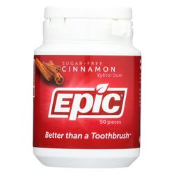 Epic Dental - Xylitol Gum - Cinnamon - 50 Count