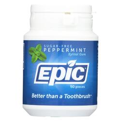 Epic Dental - Xylitol Gum - Peppermint - 50 Count