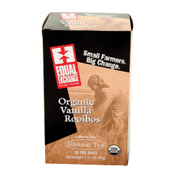Equal Exchange Organic Herbal Tea Vanilla Rooibos - Vanilla - Case of 6 - 20 Bags