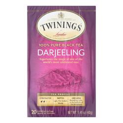 Twining's Tea Black Tea - Darjeeling - Case of 6 - 20 Bags