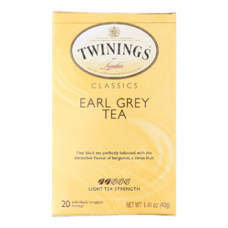 Twining's Tea Earl Grey Tea - Black Tea - Case of 6 - 20 Bags